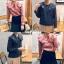 เสื้อเกาหลี พร้อมส่ง Pretty Scott Blouse เสื้อลายสก็อต thumbnail 13