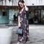 ชุดเดรสเกาหลี พร้อมส่ง Maxi Dress ผ้าชีฟอง ลายดอก thumbnail 7