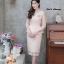 ชุดเดรสเกาหลี พร้อมส่ง Dress ผ้าไหมปักลูกไม้คอวี thumbnail 11