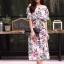 ชุดเดรสเกาหลี พร้อมส่ง Dress ปริ้นลายใบไม้ thumbnail 8