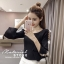 เสื้อเกาหลี พร้อมส่ง เสื้อยืด ผ้าดีมาก thumbnail 3
