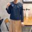 เสื้อเกาหลี พร้อมส่ง Pretty Scott Blouse เสื้อลายสก็อต thumbnail 2