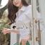 เดรสเกาหลี พร้อมส่ง เดรสเชิ้ตคอปก สีขาว thumbnail 3