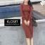ชุดเดรสเกาหลี พร้อมส่ง Dress ผ้าไหมพรมงาน Knit thumbnail 9