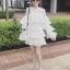 เดรสเกาหลี พร้อมส่ง JRO dress แขนยาวระบาย4 ชั้น thumbnail 2