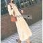 เดรสลูกไม้ พร้อมส่ง เดรสผ้าลูกไม้สีขาว ผ้าโปร่งซีทรู thumbnail 6