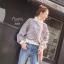 เสื้อเกาหลี พร้อมส่ง จัมเปอร์ผ้าทวิส เอวจัมพ์ thumbnail 1