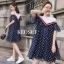 เดรสเกาหลี พร้อมส่ง Mini dress เปิดไหล่ ทรงหลวมๆ thumbnail 4