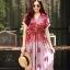 ชุดเดรสเกาหลี พร้อมส่ง Maxi dress ผ้าสปันเนื้อดีปริ้นลายสวย thumbnail 4