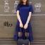 ชุดเดรสเกาหลี พร้อมส่ง Long Dress เดรสยาว ชายระบาย thumbnail 3
