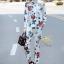 เสื้อผ้าเกาหลี พร้อมส่ง เสื้อเชิ้ตกับกางเกงลายกุหลาบ thumbnail 9