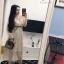 ชุดเดรสเกาหลี พร้อมส่ง Dress ผ้ามุ้งซีทรู thumbnail 7