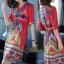 เดรสเกาหลี พร้อมส่ง Dress คอวี แขน 3 ส่วน thumbnail 1
