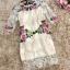พร้อมส่ง เดรสผ้าลูกไม้ปักลายดอกไม้สีครีม thumbnail 5