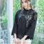เสื้อแฟชั่นผ้าชีฟองปักดอกไม้ พร้อมส่ง thumbnail 14