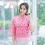 เสื้อเกาหลี ผ้าลูกไม้ ลายดอกกุหลาบ พร้อมส่ง thumbnail 11