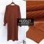 ชุดเดรสเกาหลี พร้อมส่ง Dress ผ้าไหมพรมงาน Knit thumbnail 8