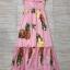 ชุดเดรสเกาหลี พร้อมส่ง Dress เปิดไหล่ ลายสัปปะรด thumbnail 8