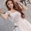 ชุดเดรสเกาหลี สีขาวผ้าชีฟอง พร้อมส่ง thumbnail 5
