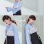 เสื้อเกาหลี พร้อมส่ง เสื้อเชิ้ต ลายริ้ว thumbnail 3