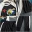 เสื้อผ้าเกาหลี พร้อมส่ง เสื้อแขนแถบทูโทน+กางเกง thumbnail 7