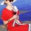 ชุดเดรสเกาหลี พร้อมส่ง เดรสผ้าซาติน ซิลพิมพ์ลาย thumbnail 8