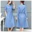 เดรสเกาหลี พร้อมส่ง dress ยาว ทรงบาน thumbnail 1