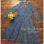 ชุดเดรสเกาหลี พร้อมส่ง เดรสออกงาน คอวีแขนยาวห้าส่วน thumbnail 10