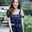 ชุดเดรสเกาหลี พร้อมส่ง dress ปักลายดอกไม้ thumbnail 5