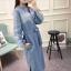 พร้อมส่ง เดรสยาวผ้ายีนส์ Style Korea thumbnail 3