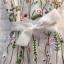 พร้อมส่ง เดรสสั้นผ้าโปร่ง งานปักลายดอกไม้ thumbnail 10
