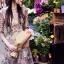 ชุดเดรสเกาหลี พร้อมส่ง เดรสปักลายดอกไม้ thumbnail 3