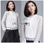 เสื้อเกาหลี พร้อมส่ง เสื้อผ้าลูกไม้สีขาว thumbnail 8