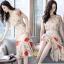 เดรสเกาหลี พร้อมส่ง ชุดเดรสผ้าชีฟอง ลายดอกไม้ thumbnail 8