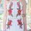 เสื้อผ้าแฟชั่นเกาหลี จั้มสูทปักดอกกุหลาบ พร้อมส่ง thumbnail 19