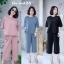 เสื้อผ้าเกาหลี พร้อมส่ง Set สุดชิค เสื้อ+กางเกง thumbnail 1