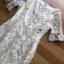 เดรสเกาหลี พร้อมส่ง เดรสผ้าทูลเลปักลายดอกไม้ thumbnail 9