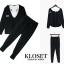 เสื้อผ้าเกาหลี พร้อมส่ง เสื้อมีฮู้ดกับกางเกงขายาว thumbnail 4