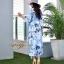 ชุดเดรสเกาหลี พร้อมส่ง Maxi Dress ลายดอก thumbnail 7