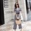 เสื้อผ้าเกาหลี พร้อมส่ง jumpsuit ขายาวลายสก็อต thumbnail 4