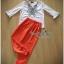 พร้อมส่ง ชุดเซตเสื้อกับกางเกงสีส้ม เสื้อผ้าเกาหลี thumbnail 5