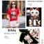 เสื้อเกาหลี พร้อมส่ง T-Shirt ลายแมว thumbnail 4