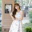 เดรสเกาหลี พร้อมส่ง เดรสผ้าซาตินเนื้อนิ่ม เงาสวย thumbnail 7
