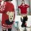 เสื้อเกาหลี ไหมพรม ลายหมี พร้อมส่ง thumbnail 6