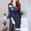 เสื้อผ้าเกาหลี พร้อมส่ง ชุดจั้มขายาว ลายดอกสีคมชัด thumbnail 3