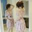 พร้อมส่ง Mini Dress เปิดไหล่ พิมลายดอกไม้ thumbnail 4