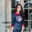 เสื้อผ้าเกาหลี พร้อมส่ง Jumpsuit ลายคมชัด thumbnail 3