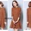 ชุดเดรสเกาหลี พร้อมส่ง Mini Dress คอเต่า thumbnail 5