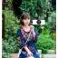 เดรสเกาหลี พร้อมส่ง Mini dress งานปักสไตล์โบฮีเมียน thumbnail 5