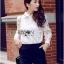 พร้อมส่ง เสื้อแฟชั่น เสื้อเกาหลี เชิ้ตขาวผ้าตาข่าย thumbnail 6